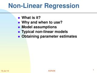 Non-Linear Regression