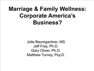 Marriage  Family Wellness: Corporate America s Business