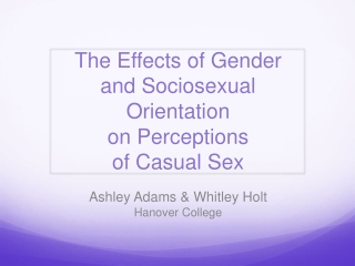 The Sexual Attitudes and Behaviors of Male Teens