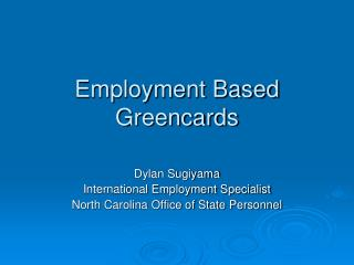 Employment Based Greencards
