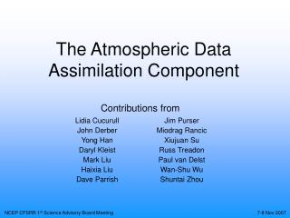 The Atmospheric Data Assimilation Component
