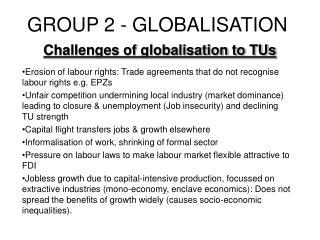 GROUP 2 - GLOBALISATION