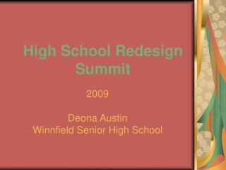 High School Redesign Summit