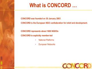 What is CONCORD …