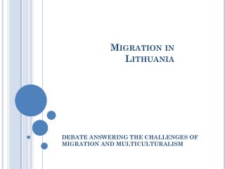 Migration in  Lithuania