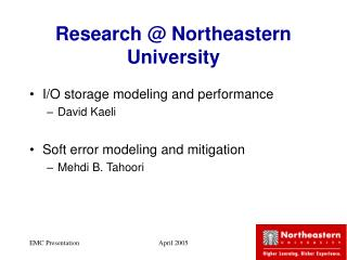 Research @ Northeastern University