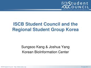 ISCB Student Council and the Regional Student Group Korea