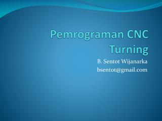 Pemrograman CNC Turning