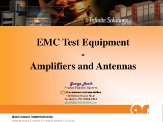 EMC Test Equipment - Amplifiers and Antennas