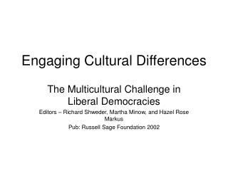 Engaging Cultural Differences