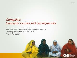 Corruption:  Concepts, causes and consequences