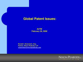 Global Patent Issues: