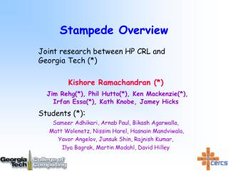Stampede Overview