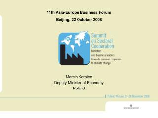 11th Asia-Europe Business Forum Beijing, 22 October 2008