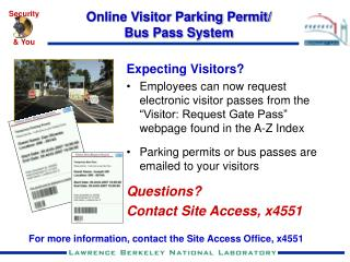 Online Visitor Parking Permit/ Bus Pass System