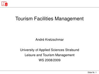 Tourism Facilities Management