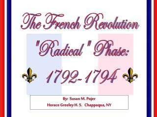 "The French Revolution ""Radical"" Phase: 1792-1794"