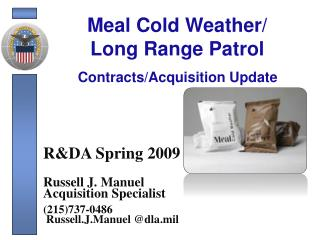 Meal Cold Weather/ Long Range Patrol