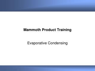 Mammoth Product Training