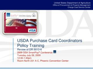 USDA Purchase Card Coordinators Policy Training Review of DR 5013-6