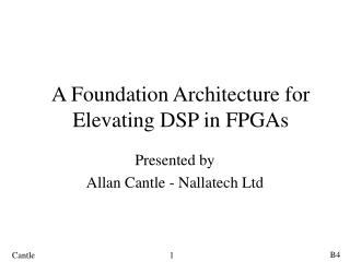 A Foundation Architecture for Elevating DSP in FPGAs