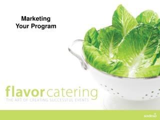 Marketing Your Program