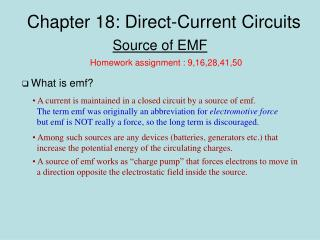 Chapter 18: Direct-Current Circuits