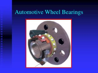 Automotive Wheel Bearings