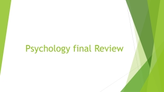 Psychology final Review