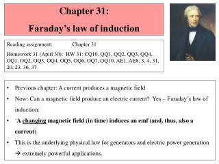 Chapter  31 :   Faraday's law of induction