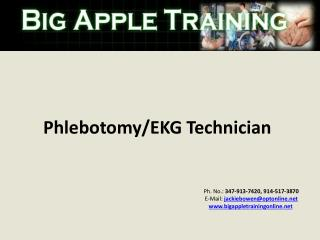 Phlebotomy/EKG Technician