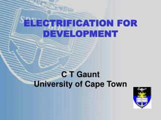 ELECTRIFICATION FOR DEVELOPMENT
