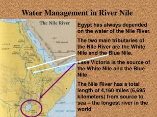Water Management in River Nile