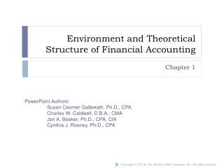 Environment and Theoretical Structure of Financial Accounting