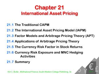 Chapter 21 International Asset Pricing