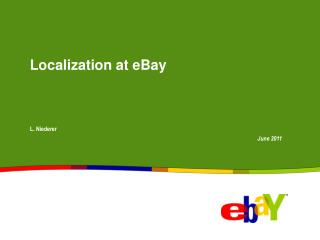 Localization at eBay