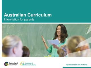 Australian Curriculum Information for parents