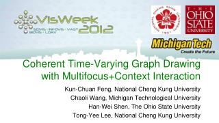 Coherent Time-Varying Graph Drawing with Multifocus+Context Interaction