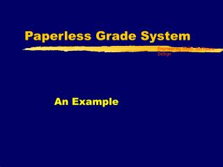 Paperless Grade System