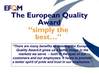 The European Quality Award