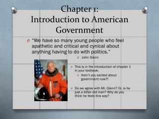 Chapter 1: Introduction to American Government