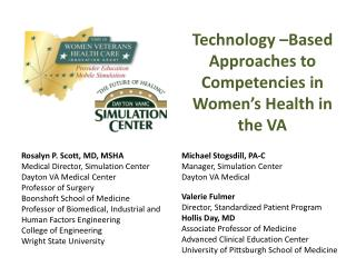 Technology –Based Approaches to Competencies in Women's Health in the VA