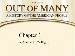Chapter 1 A Continent of Villages