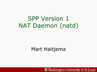 SPP Version 1 NAT Daemon (natd)