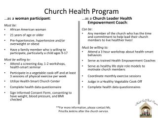 Church Health Program