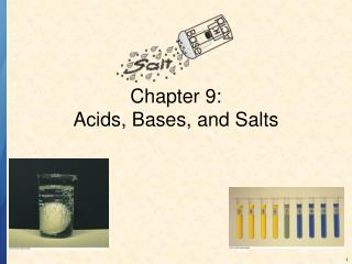 Chapter 9: Acids, Bases, and Salts