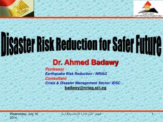 Disaster Risk Reduction for Safer Future