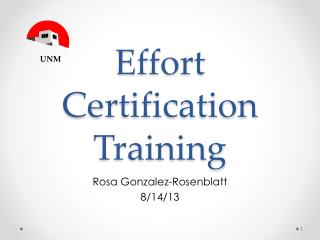 Effort Certification Training