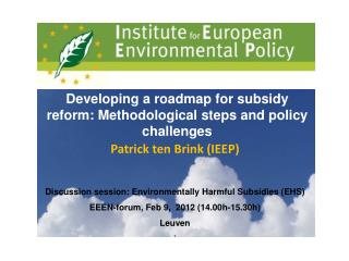 Developing a roadmap for subsidy reform: Methodological steps and policy challenges