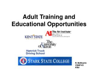 Adult Training and Educational Opportunities
